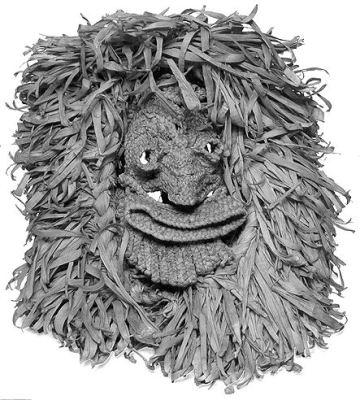 Azték kukoricacsuhé maszk