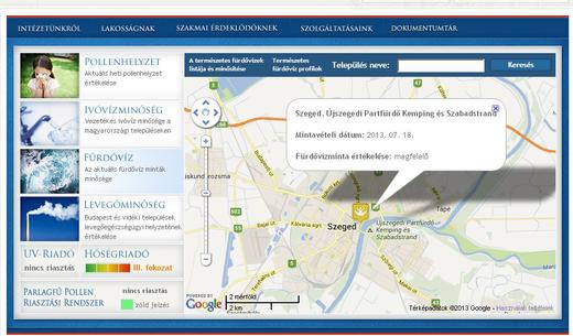 Vízminőség-Szeged-térkép-OKI