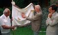 Millenniumi zászló bemutatása