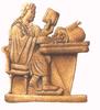 Egy római bankár ellenőrzi számításait
