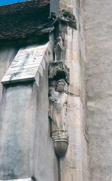 A szászsebesi plébániatemplom - késő-gótikus baldachinos szoboralak