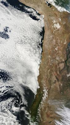A NASA műholdképe a Központi-Andokról