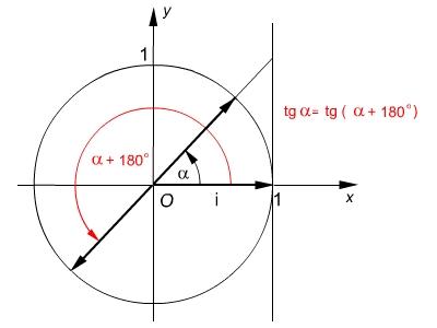 A tg és ctg periodikus- szemléltető ábra