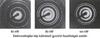 Elektronelhajlási kép különböző gyorsító feszültségek esetén