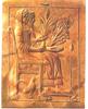 Terrakotta dombormű, melyen Perszephoné és Hadész látható az alvilágban