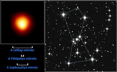 A Betelgeuze az Orion csillagképben