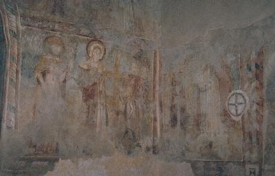 A tornaszentandrási plébániatemplom Szent Heléna freskója