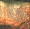 Halat ábrázoló ausztrál sziklafestmény