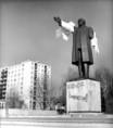 Lenin-szobor pellengéren Debrecenben