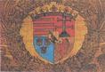 A hollós címer Mátyás király trónkárpitján