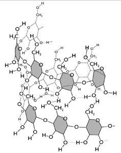 Az amilóz helikális szerkezete