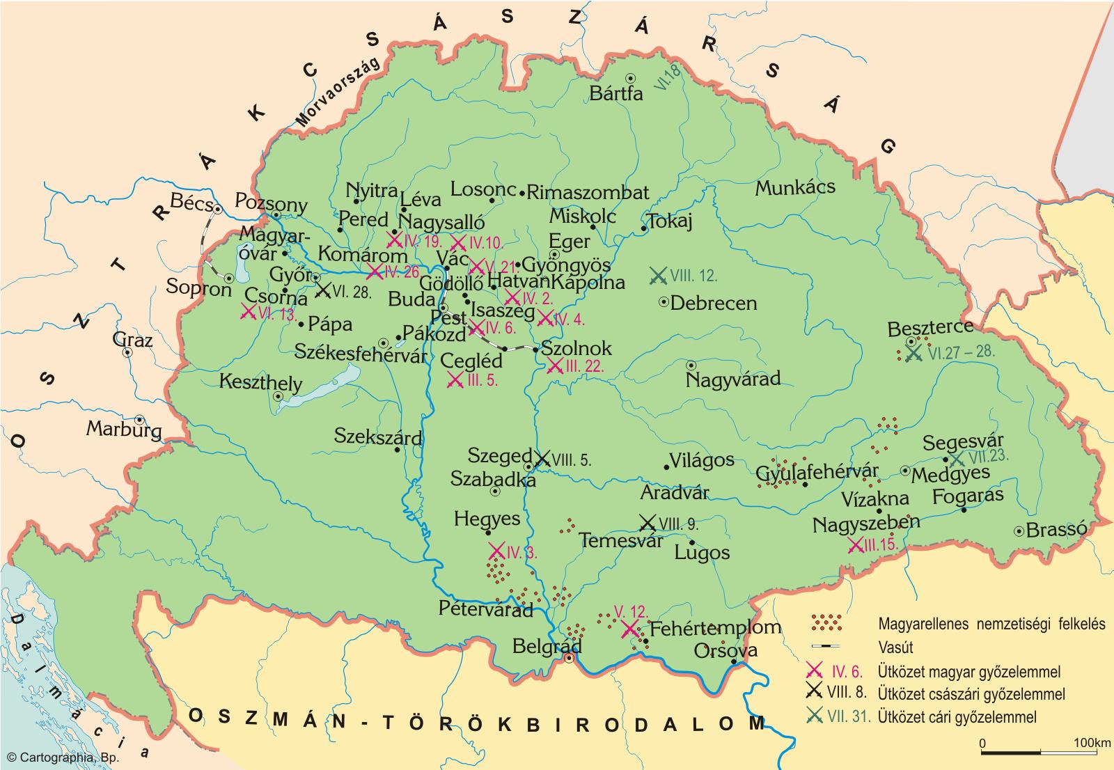 magyarország 1848 térkép Magyar történelmi térképtár | SuliTudásbázis magyarország 1848 térkép