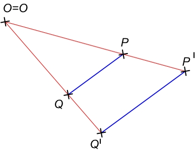 A középpontos hasonlóság aránytartó tulajdonsága és annak igazolása, szemléltetése
