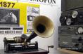 Egy gramafon jellegű Edison fonográf az 1800-as évek végéről az orsós magnók múzeumában