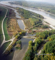 A Mosoni Duna-ág légifelvételen