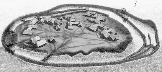 A bronzkori erődített település rekonstrukciója