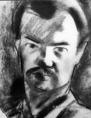 Gáborjáni Szabó Kálmán Önarckép című grafikájáról készült reprodukció
