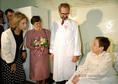 Zsófia királyné látogatása a II. sz. Belgyógyászati Kilinikán