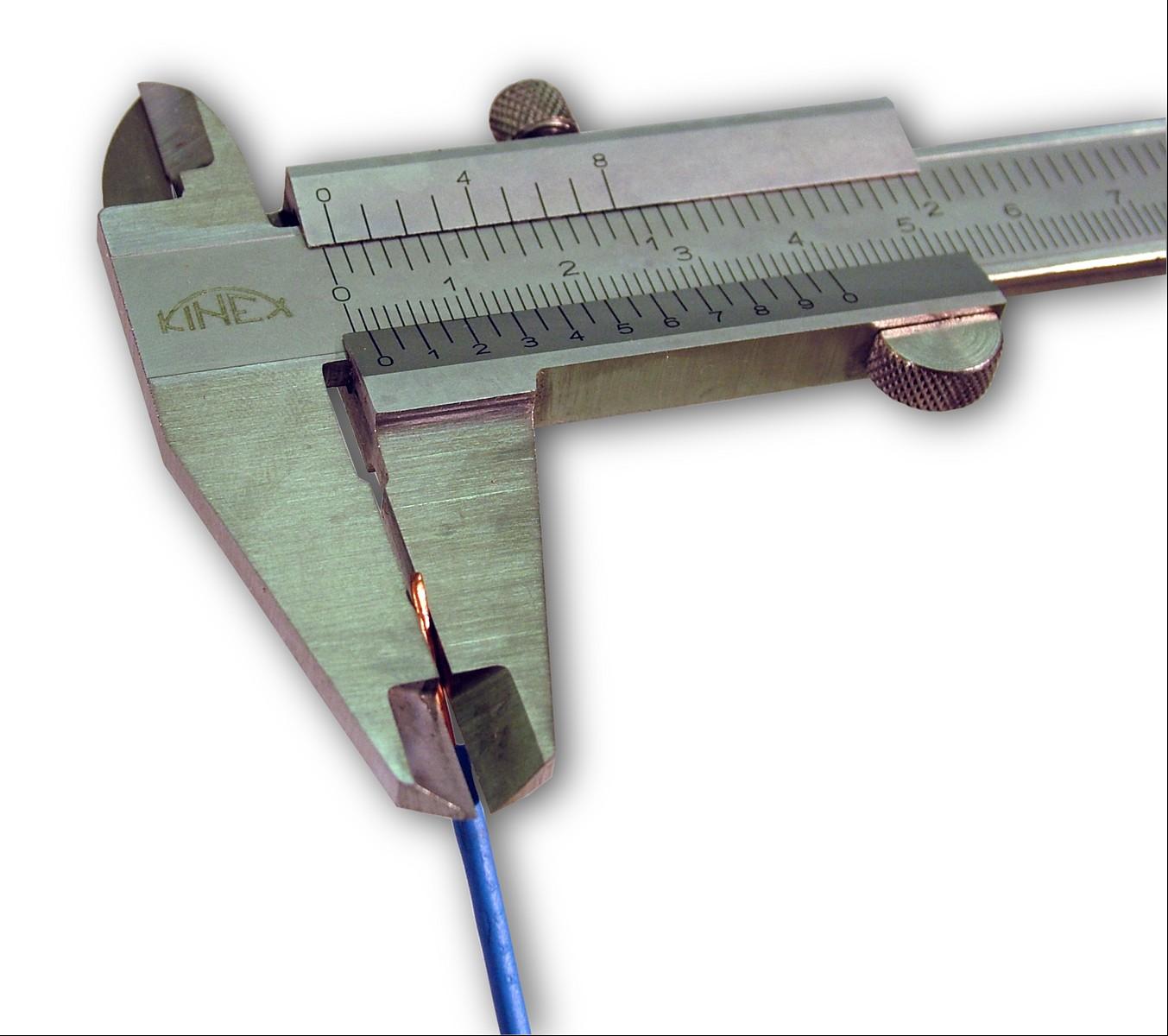 vezeték keresztmetszet mérés