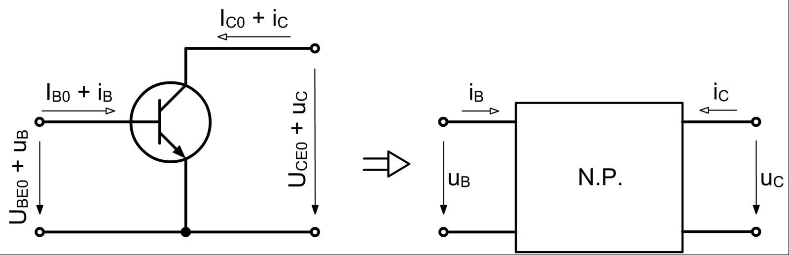 Tranzisztor helyettesítő kép