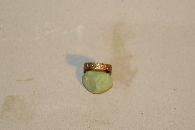 Feliratos réz pántgyűrű