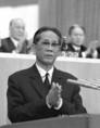 Vietnami párt- és kormányküldöttség vezetője, Le Duan beszédet mond a nagygyűlésen