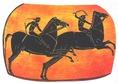 Ezt a vázát, mely lóversenyt ábrázol, az olimpiai játékok egyik győztese kapta