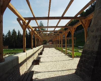 A visegrádi királyi palota kertje - pergola