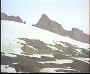 A Rhone-gleccser felszíne közelről