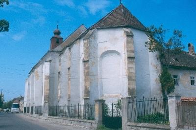 A szászsebesi dominikánus kolostor látképe délkelet felől