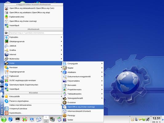 Az OO helye KDE ablakkezelőben