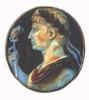 Augustus, császári sast ábrázoló uralkodói jelképpel a kezében
