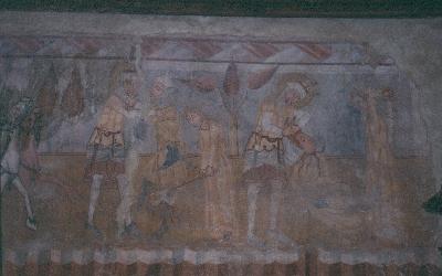 A gelencei plébániatemplom késő-gótikus kifestésének részlete