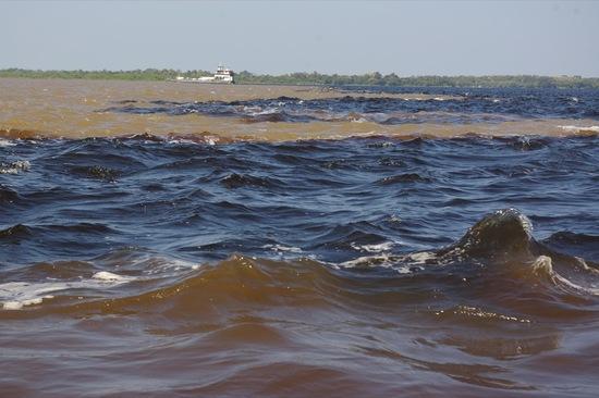 Amazonas-medence: az Amazonas és a Rio Negro találkozása