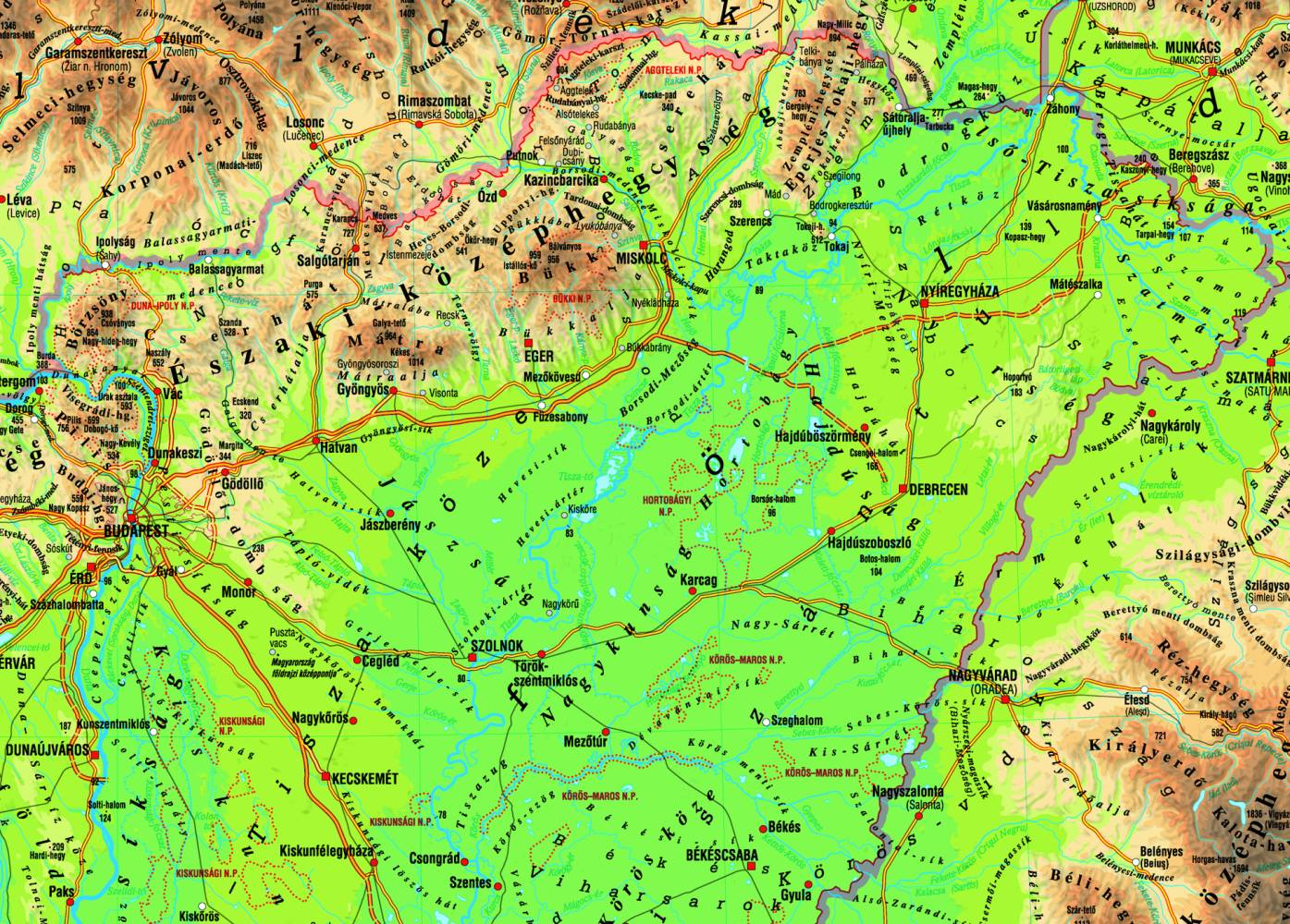 északi középhegység térkép Közlekedési földrajz | SuliTudásbázis északi középhegység térkép