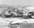 A szegedi téli kikötőben