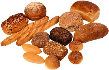 Különböző kenyérfélék, péksütemények fotója