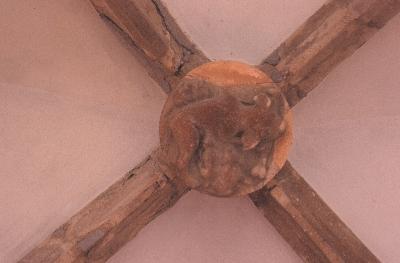 Az egri püspöki palota - zárókő a püspöki palota földszinti folyosójáról