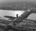 Légi fotók a kiskörei, ún.Tisza II. vízlépcső építéséről
