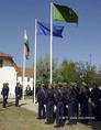 Zászlófelvonás a Nyírbátori Határőr Igazgatóságon