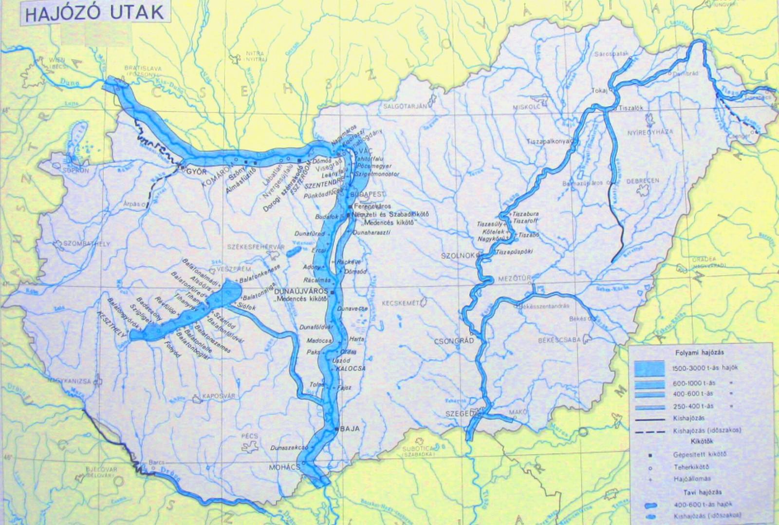 magyarország folyóvizei térkép Közlekedési földrajz | SuliTudásbázis magyarország folyóvizei térkép