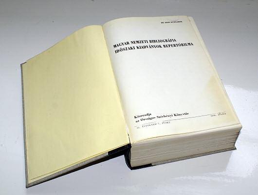A Magyar Nemzeti Bibliográfia egy száma