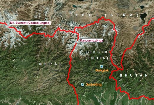 Kancsendzönga-térkép