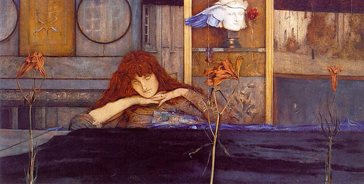 800px-Fernand_Khnopff_-_I_lock_my_door_upon_myself
