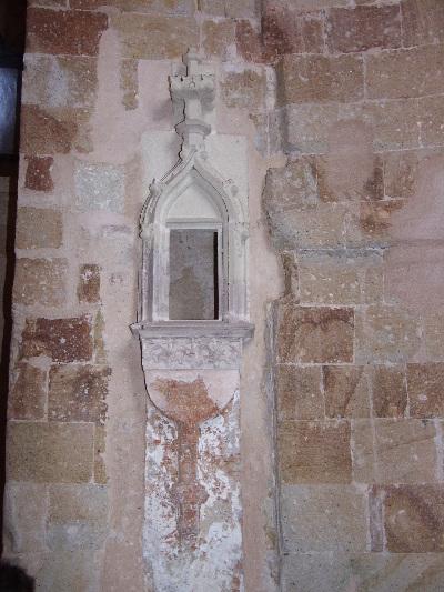 A boldvai bencés apátság - késő-gótikus mérműves fali szentségház