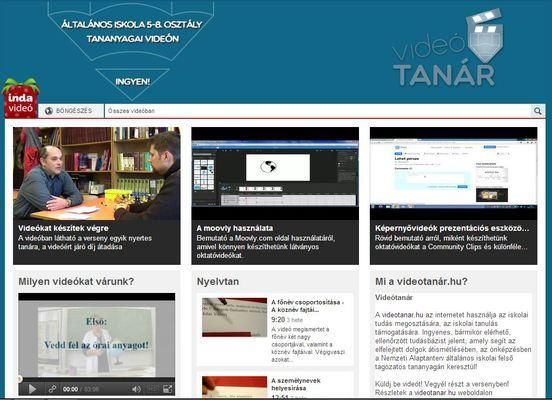 Videótanár - új kezdeményezés: bővül a szabadon hozzáférhető tananyagok tára