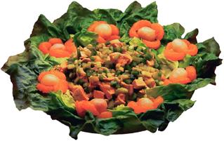 Zöldséges tál