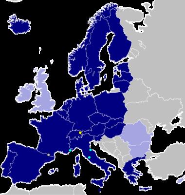 A schengeni övezet