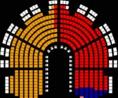 "A parlamenti pártok képviselőcsoportjai ""a parlamenti patkó""-ban"