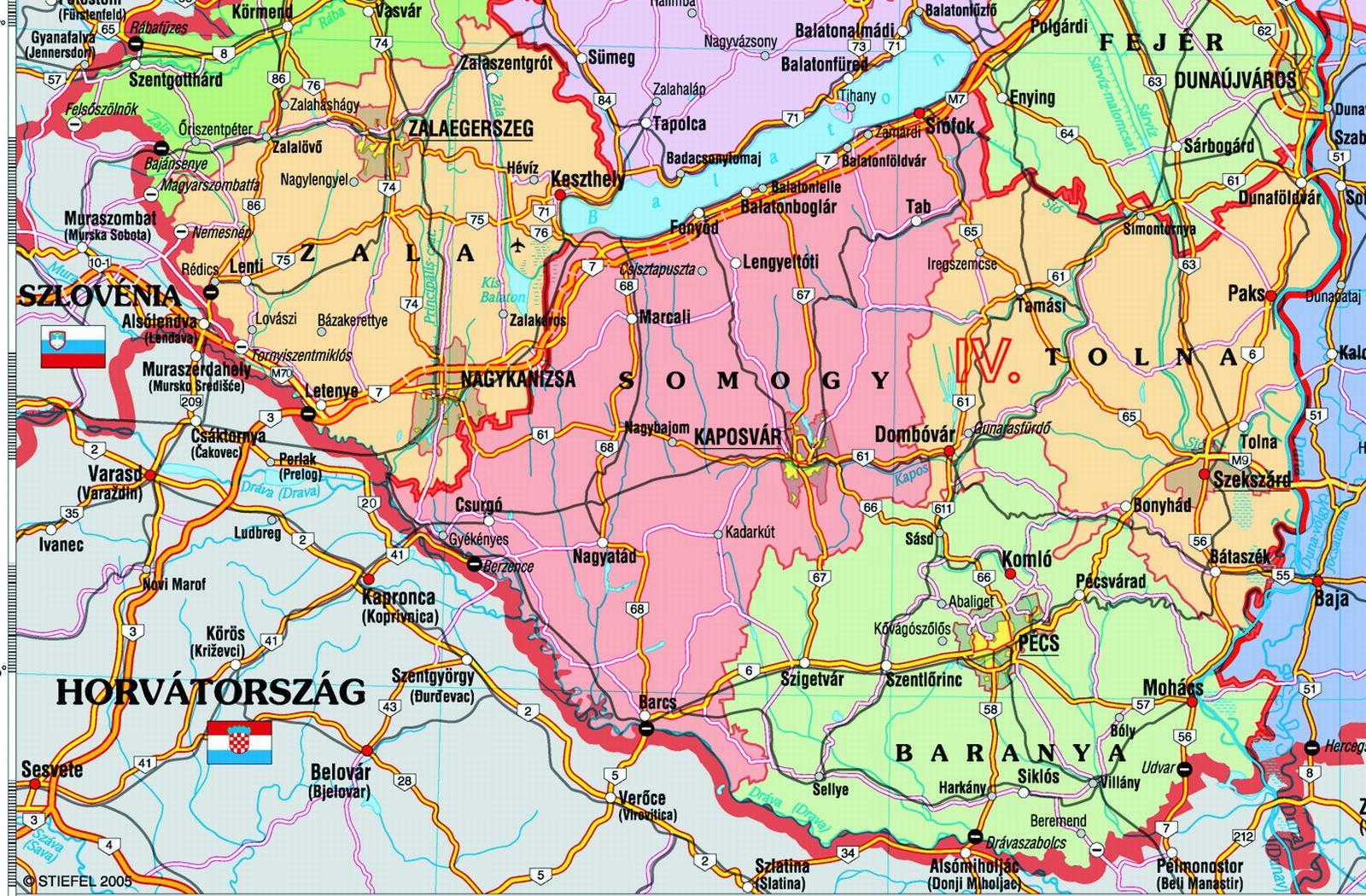 dunántúl térkép Közlekedési földrajz | SuliTudásbázis dunántúl térkép